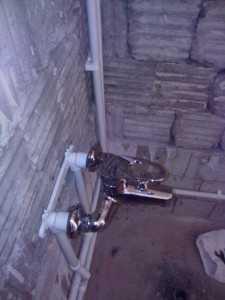 установка смесителя
