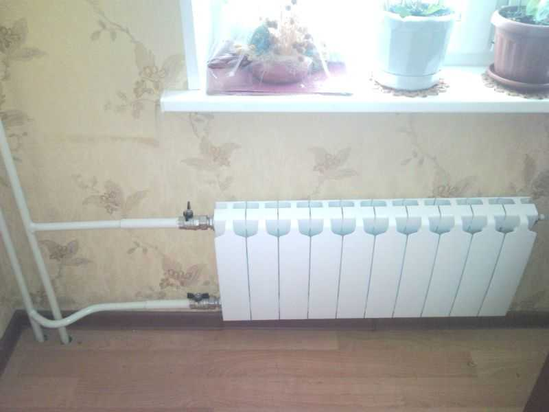 биметаллический радиатор как итьподключить