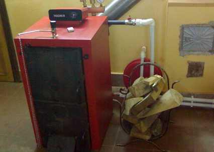 установка напольного котла отопления