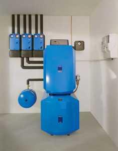 Установка отопительного котла на жидком топливе