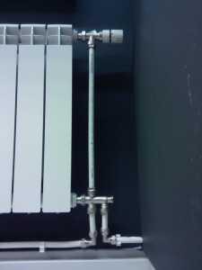 подключение блока однотрубной системы