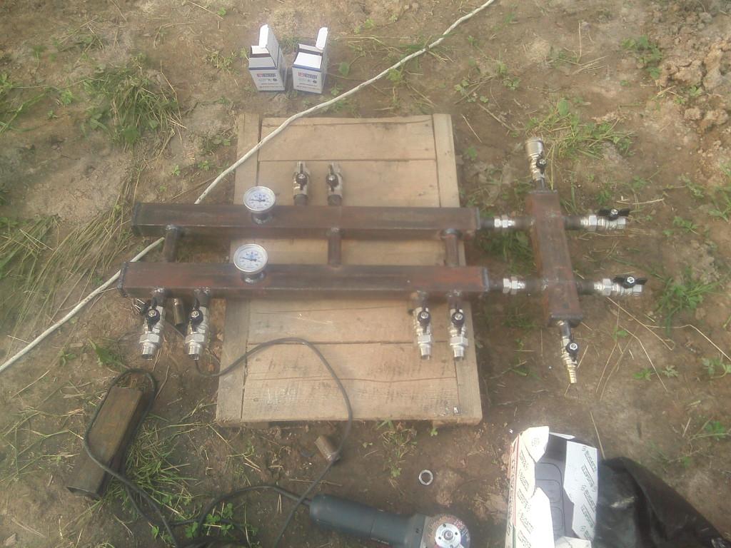 сборка колектора с гидрострелкой