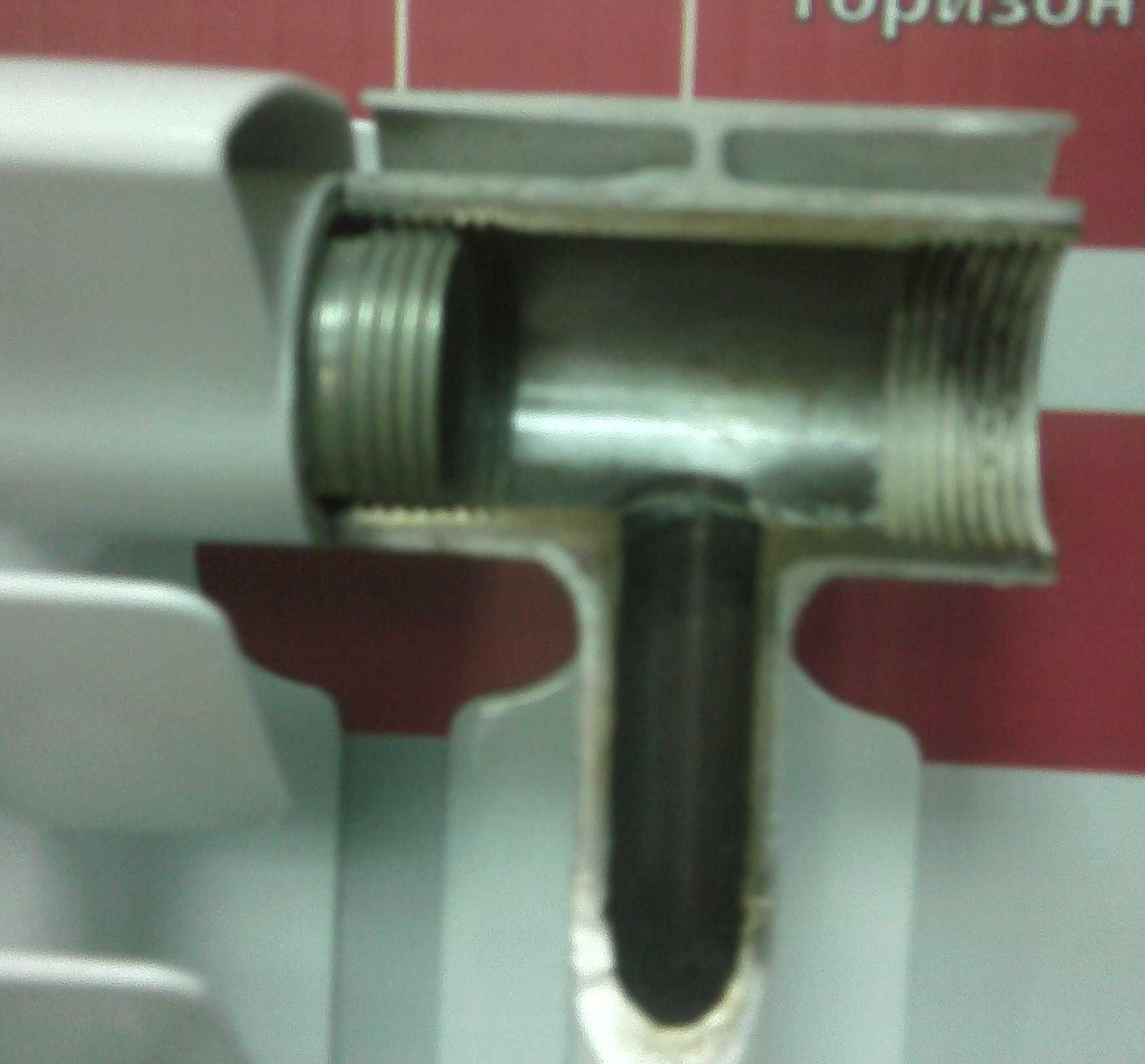 биметалический радиатор в разрезе