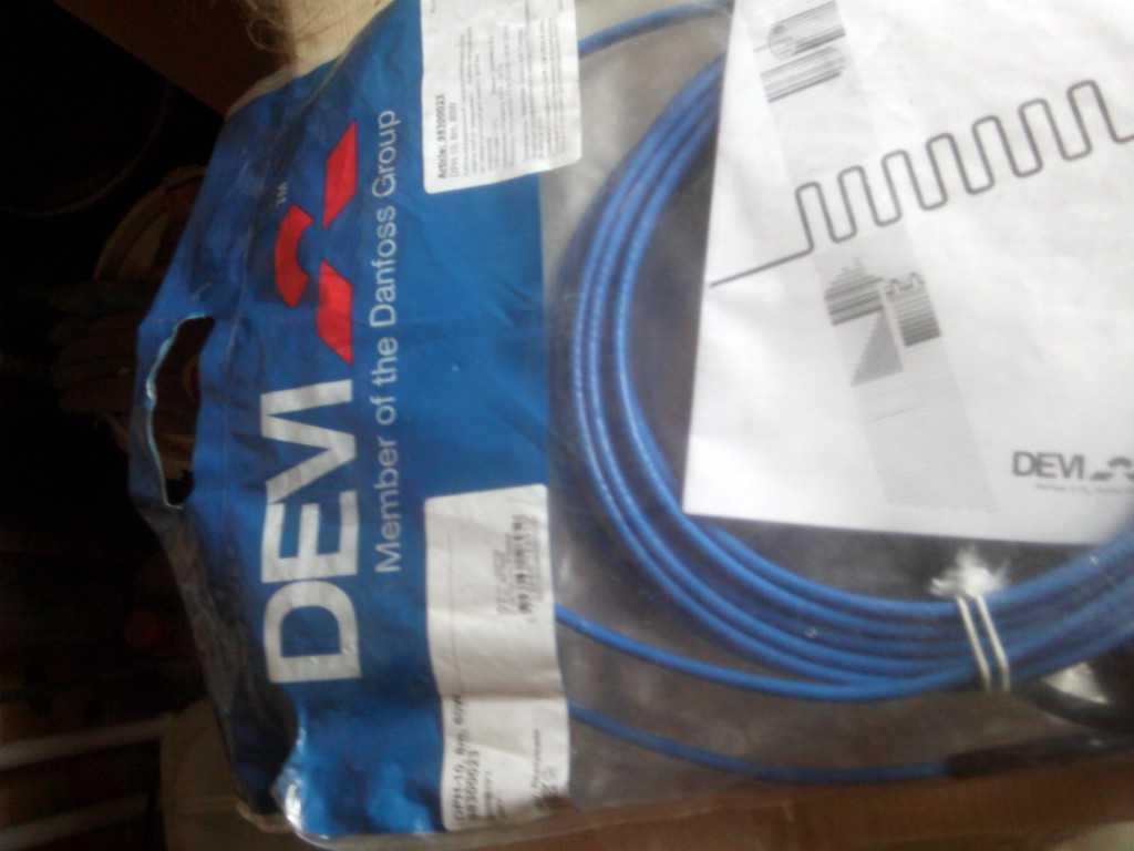 греющий кабель деви