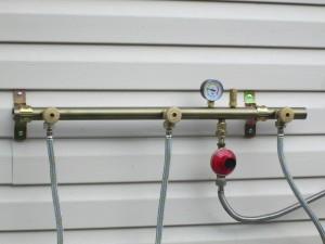 подключение редуктора к газовому баллону