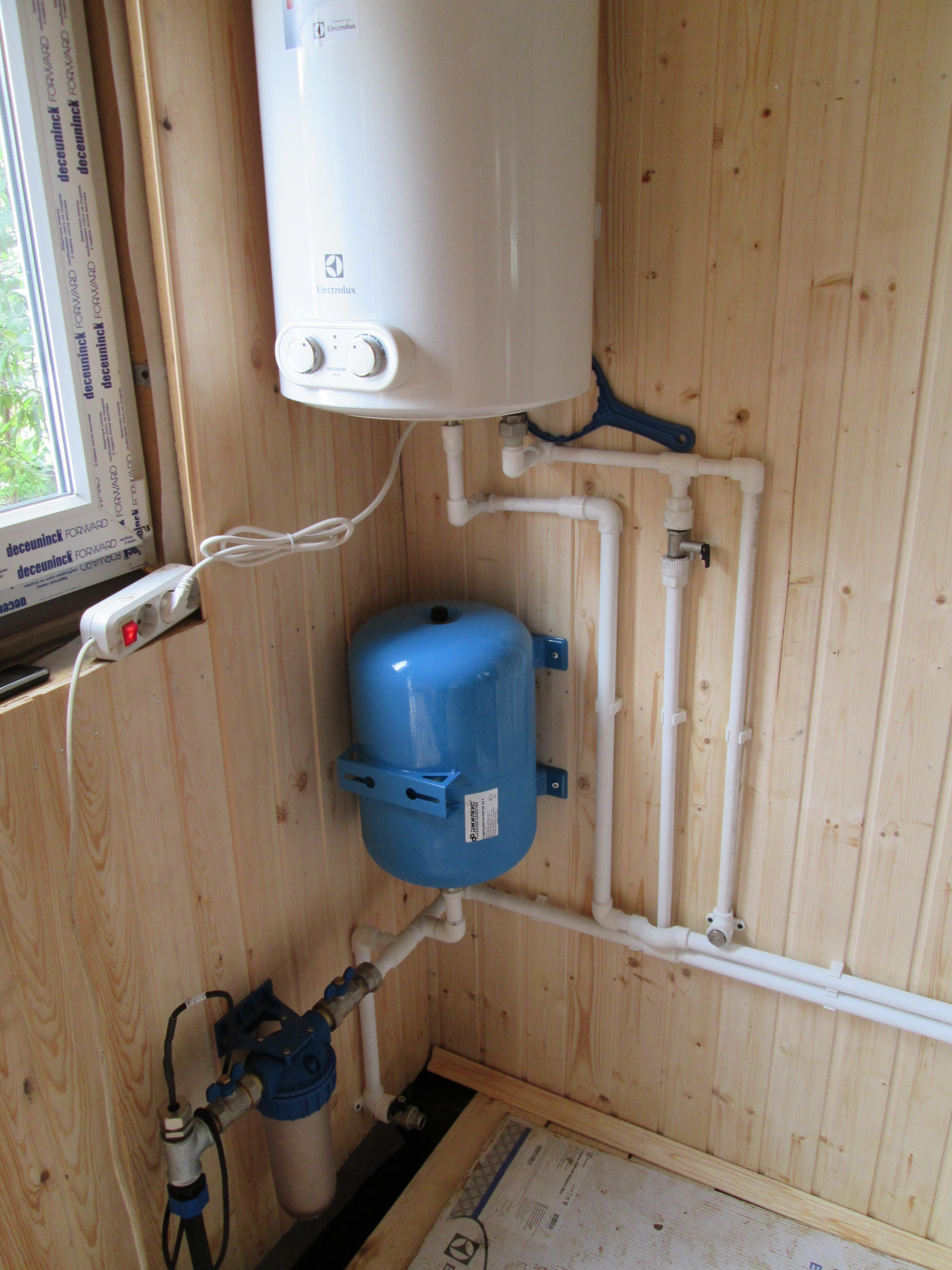 Как в частном доме сделать водопровод из скважины 263
