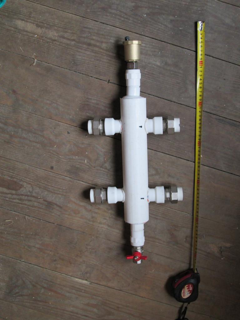 Гидрострелка для отопления из полипропилена