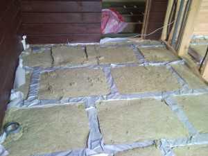теплоизоляция деревяного теплого пола