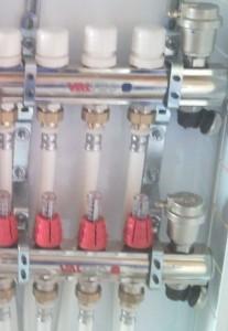 коллектор  отопления валтек