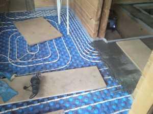 теплый пол устройство в деревянном доме