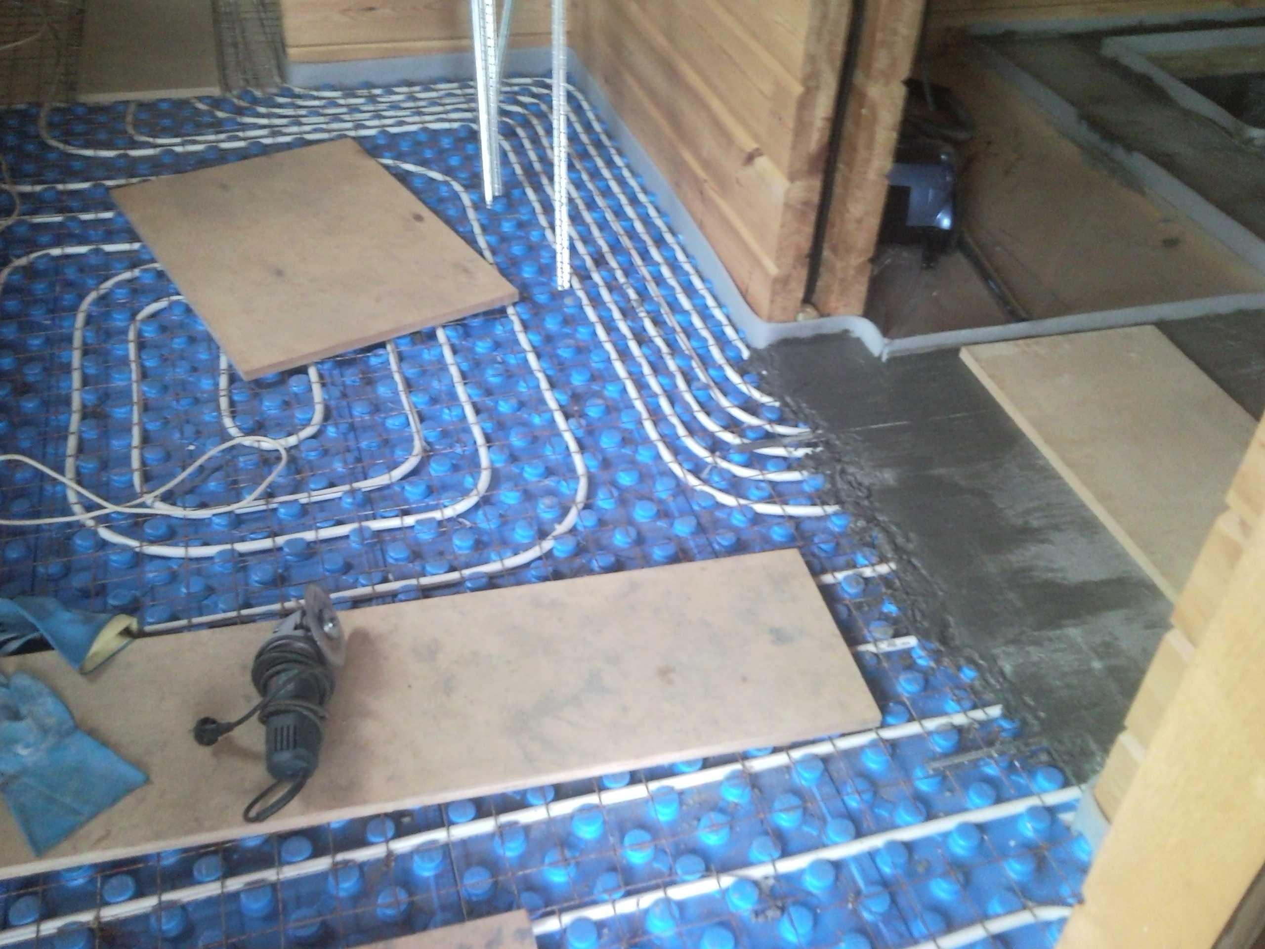 Водяной теплый пол  по деревянным полам без стяжки