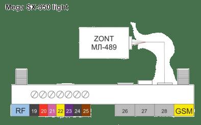 MegaSX 350 подключение модуля МЛ-489