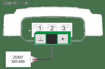 Mega SX-170 подключение модуля МЛ-489