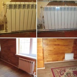 монтаж отопления биметаллическими радиаторами