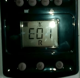 ошибка Е 01