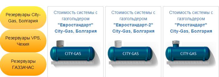 выбор газгольдера